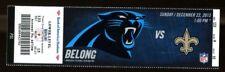 2013 Saints v Panthers Ticket NFL 12/22/13 Drew Brees 37809