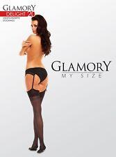 Glamory Strapsstrümpfe Delight 20 - Gr. 44/46 bis 60/62 - div. Farben
