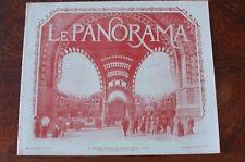 LE PANORAMA DE L' EXPOSITION UNIVERSELLE PARIS 1900  N°12  neurdein baschet