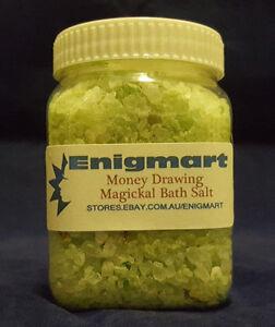 Money Drawing Magickal Bath Salts 200ml - Bathe in Money Drawing Magick