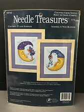 NEEDLE TREASURES Catching Zs And Sleepless CROSS STITCH KIT BY JCA NEW Moons