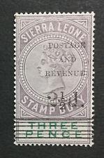 MOMEN: SIERRA LEONE SG #57 MINT OG H LOT #195762-3708