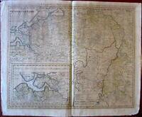 Belgium Zeeland Flanders Antwerpen c.1788 Homann Heirs folio sheet map