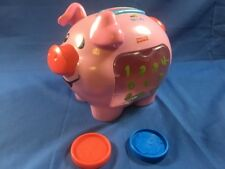 Fisher Price Laugh & Learn Pink Piggy Bank 10 Coins Sounds Old Style  2006 Toy