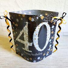 Tischdeko-Windlicht aus Servietten- Happy Birthday- 40.GEBURTSTAG-Partydeko