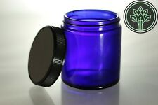 Awesome Cobalt Blue Glass Jars 4 Oz **12 PACK** Air Tight Storage