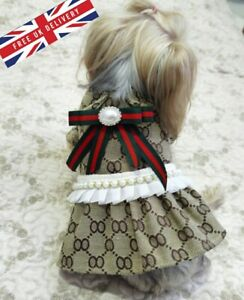 Small Dog Cat Chihuahua Terrier Breeds Luxury Dresses T-Shirts Clothes