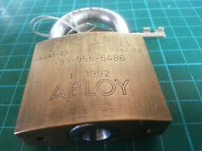 Abloy  3041-25 brass bodied padlock - only one original key.