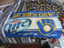 L@K Milwaukee Brewers Banner Miller Lite New Baseball Flag Bar Pub Game Room