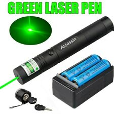990Miles 532nm 301 Green Laser Pointer Lazer Pen+2 x 18650 Battery+Dual Charger