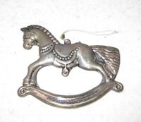 Christmas Tree Decoration Keepsake Ornament Metal Rocking Horse 1994