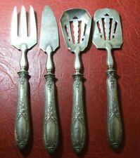 ANTIQUE Silver Art Nouveau service set of 4 to identify