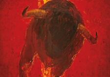 Mulato 5 von Monica Rotgans Poster Kunstdruck Bild Stier Rot Deko Kunst 100x70