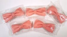 ROYAL CLIP-ON BOW TIE LOT PINK VINTAGE NEW OLD STOCK MATCHING 5 pc SET