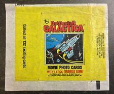 Topps Bubble Gum Cards - BATTLESTAR GALACTICA - UK 1978 - Empty Wax Wrapper