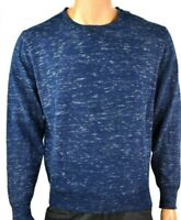 Weatherproof Vintage Mens Sweater New L Blue Long Sleeves Wool Cashmere Faded