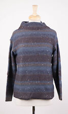 NWT BRUNELLO CUCINELLI Blue/Brown Cashmere Blend Knit Sweater Size XL $3105