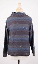 NWT BRUNELLO CUCINELLI Blue/Brown Cashmere Blend Knit Sweater Size XL $3105