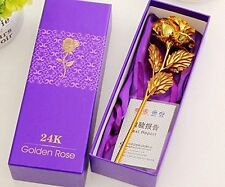 24K Gold Rose With Gift Box And Carry Bag - Best Gift on Valentine's Day,Diwali
