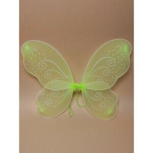 UK New Green Net Fairy Wings Glitter Swirls Fancy Dress Party Gifts Accessories