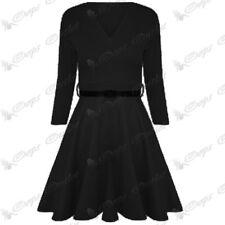 Vestiti da donna maniche a 3/4 tunica con scollo a v