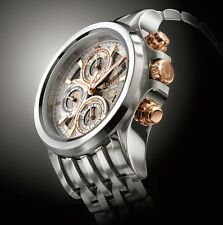 Bulova AccuSwiss 65B153 Kirkwood Mens Swiss Made Automatic Chronograph Watch NEW