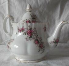 Vintage Royal Albert Bone China England Lavender Rose Tea Pot with Lid EUC