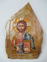 Vintage Orthodox Christian Icon on Stone