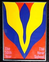 Jack Youngerman THE NEW SCHOOL 50th YEAR Original Poster Lithograph Framed 1969