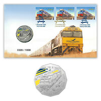 Australia 2020 Indian Pacific Train Stamps & 50c Coin Cover- PNC Limited Edition
