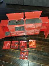 snap on TOY TOOL BOX with accessories. METAL
