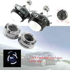 "3"" Car LED Light Angel Eye Projector Lens Headlight w/Cover SUV Demon Eyes IP65"