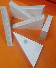6 x XL Holz Keil 188 x 120 x 30 mm Bastel Unterleg Montagekeile Birke Multiplex