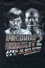 MANNY PACQUIAO Vs BRADLEY 2 T-SHIRT APRIL 12, 2014 LAS VEGAS - ADULT L NEW!!
