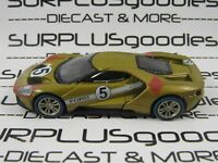 Greenlight 1:64 Scale LOOSE Collectible 2017 FORD GT Gold #5 Diorama Car