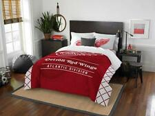 Detroit Red Wings - 3 Pc FULL / QUEEN SIZE Printed Comforter / Sham Set