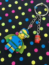The Simpsons Fallout Boy Keyring / Keychain...Handmade using LEGO® parts