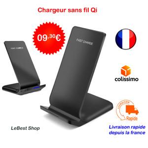 Support de Chargeur sans Fil Qi Rapide Induction pour iPhone Samsung