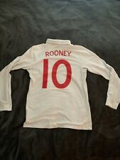 England Football 2006-2008 era style Soccer Jersey ROONEY long sleeve sz 36