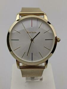 Paul Smith White Dial Gold Milanese Bracelet Watch 40409 USED
