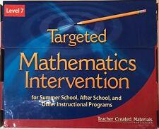 Targeted Mathematics Intervention Level 7 Kit Teacher Created Materials TCM11133