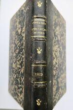 L'indicateur général des spectacles de Paris 1819