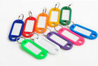 10Pieces Wholesale Plastic Key Tags Assorted Key Rings ID Tags Name Card Label