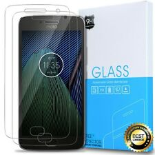 For Moto G5 Plus Tempered Glass Screen Protector [2-Pack] [Scratch Resistant]