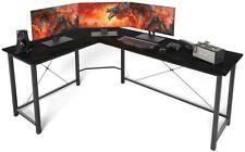 L Shaped Desk Home Office Desk with Round Corner.Coleshome Computer Desk