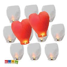 25 Lanterne Volanti LOVE Matrimonio 23 Bianche e 2 Cuore Rosso Lanterna Volante