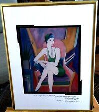 "Antonio D'arrigo Lithograph ""Sitting Pretty"" Signed & Numbered w/ Inscription"