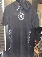 BLACKCRAFT CULT Short Sleeve Hoodie Dress Womens S Gothic Black