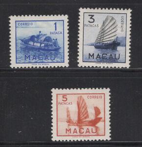 Macau Scott 361 - 363 Mint Hinged