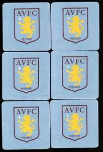 ASTON VILLA  F.C. Official Crested Beer Mats / Coasters FREE POST UK New Crest